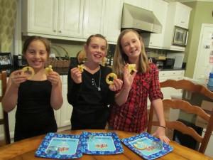 Cookie Cutter Fruits w girls
